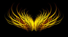 Fiery Mythical Angel Wings