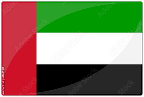 drapeau glassy émirats arabes unis emirates flag Fototapeta