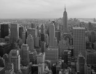 Manhattan Panorama schwarzweiß