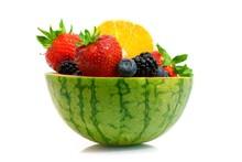 Melon Orange And Berries Fruit Bowl