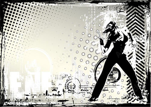 dance grungy background