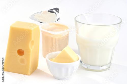 Spoed Foto op Canvas Zuivelproducten Les produits laitiers