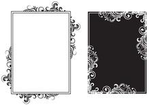 White And Black Frames
