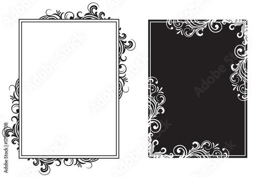 Fotografie, Obraz  White and black frames