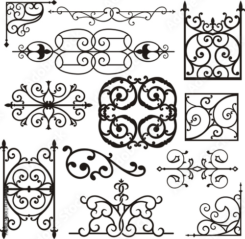 Canvas Print Wrought Iron Ornamental Designs
