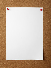Notes With Push Pins On Cork Board Office Business