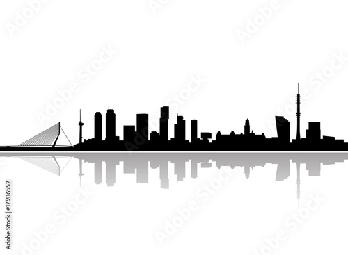 In de dag Rotterdam rotterdam city skyline vector