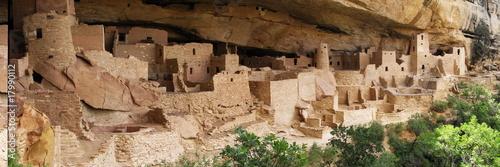 Fotografie, Obraz  cliff palace ruins at mesa verde