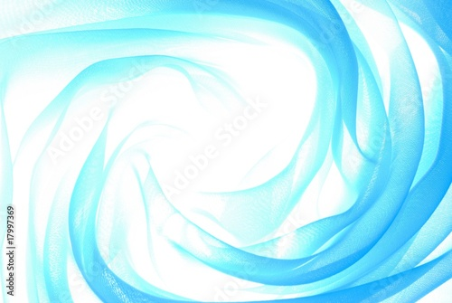 Fotografie, Obraz  Abstract soft blue chiffon with curve and wave pattern