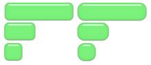Green Glass Buttons