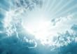 Leinwandbild Motiv himmel wolke strahlen