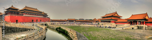 Deurstickers Beijing Awesome Forbidden City in Beijing (Peking) (Panorama)