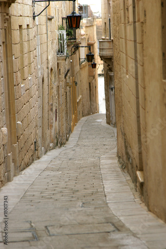 Canvas Prints Narrow alley Mdina Street, Malta