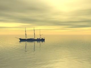 FototapetaShip at sea
