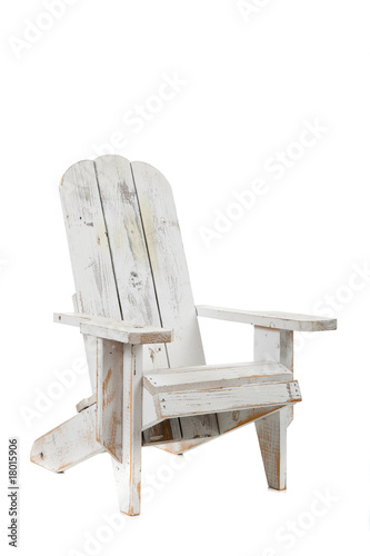 Photo White adirondack chair on a white background