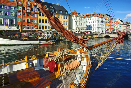 Photo  Nyhavn (new Harbor) in Copenhagen, Denmark.