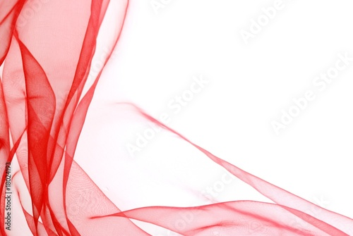 Fotografie, Obraz  Abstract soft red chiffon with curve and wave pattern
