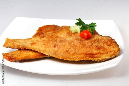 Obraz na płótnie Roasted  Flounder ( plaice )