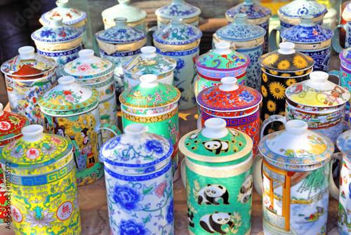 China Shanghai Yuyuan market tea pots. Poster