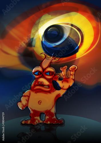 Garden Poster Cosmos Extraterrestre Alien Alienigena Mostruo Monstruo 3d
