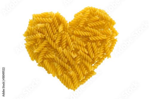 Canvastavla Pasta heart