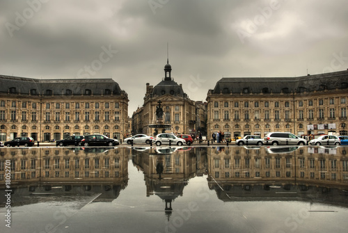 HDR Bordeaux Place de la Bourse 2 Canvas Print