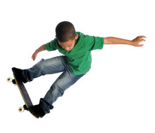 Young Child Skate Boarding
