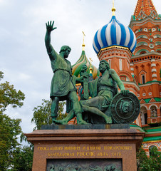 Fototapeta na wymiar St. Basil's Cathedral on Red square, Moscow, Russia