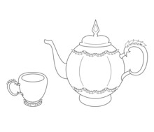 Vector Illustration Of Teapot ...