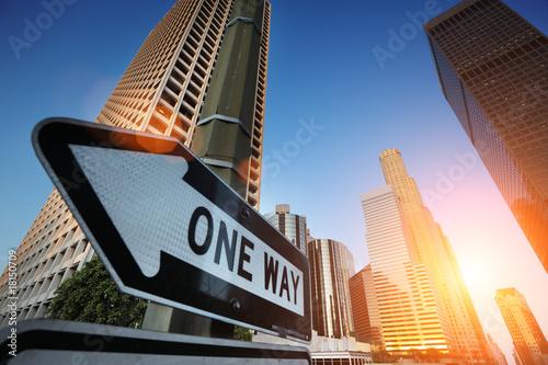 Autocollant - Sunrise over downtown Los Angeles