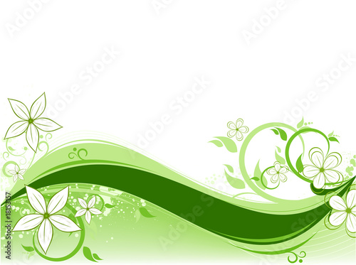 Wall Murals Pistachio floral background green