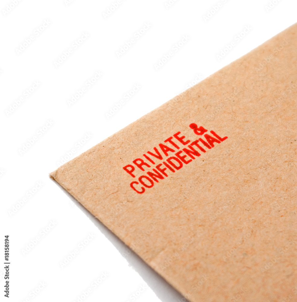 Fototapeta private and confidential letter