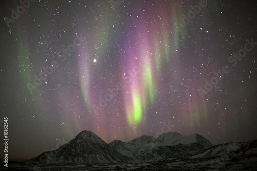 Keuken foto achterwand Noorderlicht Northern lights, Spitsbergen