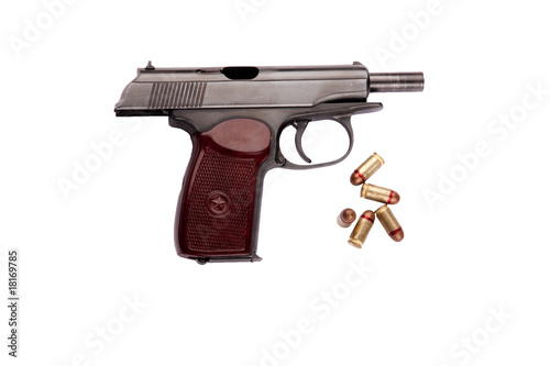 makarov pistol with bullets
