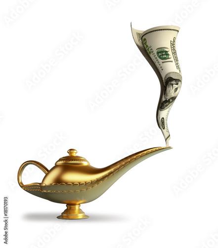 Poster Egypte Magic Alladin lamp