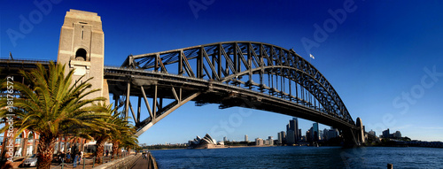 Staande foto Sydney Sydney Harbour Bridge PanoramaColour