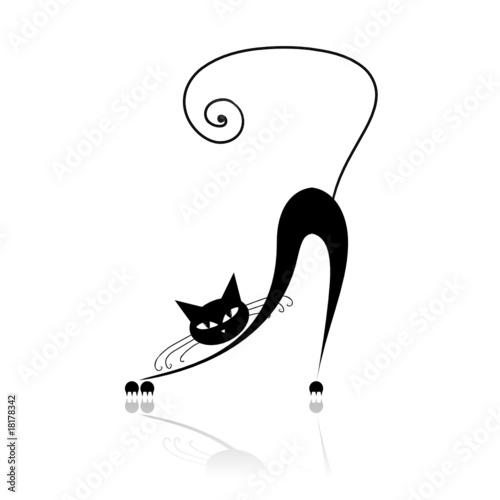 czarny-kot-sylwetka-dla-swojego-projektu