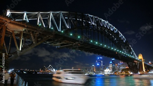 Fotografia  Sydney Harbour Bridge Night Timelapse