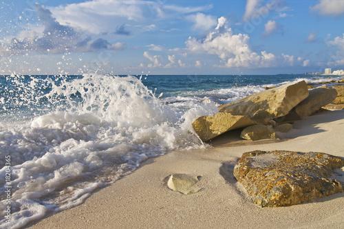 Fotografie, Obraz  Crashing Wave on Rocks