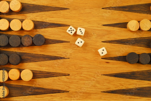 Fotografie, Obraz Backgammon