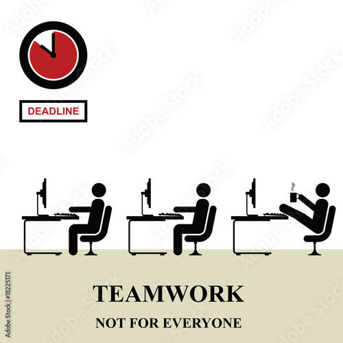 Teamwork is not for everyone in the workplace Wallpaper Mural