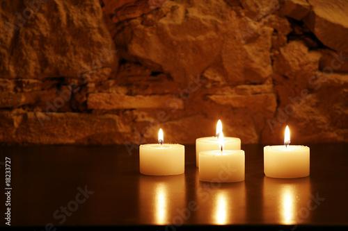 Fotografie, Obraz  4 Kerzen