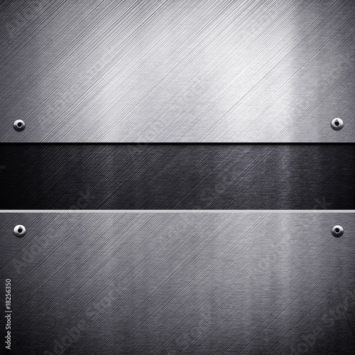 Tuinposter Metal metal template background