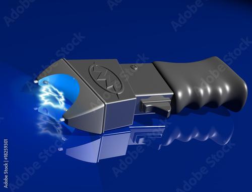 Fotografie, Obraz  Stun gun on shiny surface
