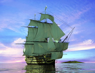 Fototapeta The ancient ship