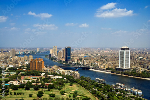 Spoed Foto op Canvas Egypte Top of Cairo from tv tower, Panorama - Egypt