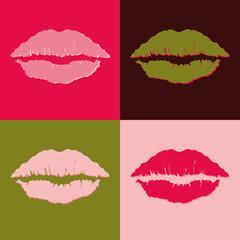 Fototapeta Popart popart lips