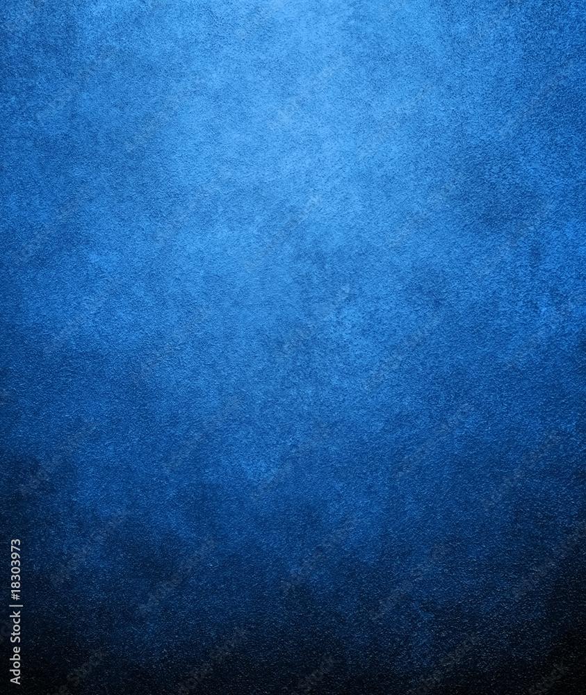 Leinwandbild Motiv - Eky Chan : blue paint background