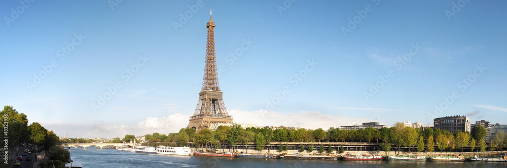 Fototapety, obrazy: famous tour eiffel in Paris