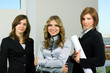 Three young businesswoman.